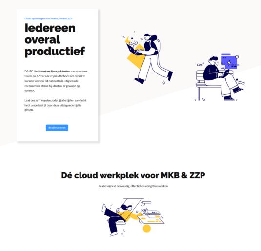d2-pc impressie website